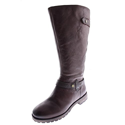 Naturalizer Women's Tanita Wide Calf Riding Boot, Brown, 8 M US (Womens Wide Calf Hunter Boots)