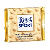 RITTER SPORT: White Chocolate w/Whole Hazelnuts Bar: 10 Count