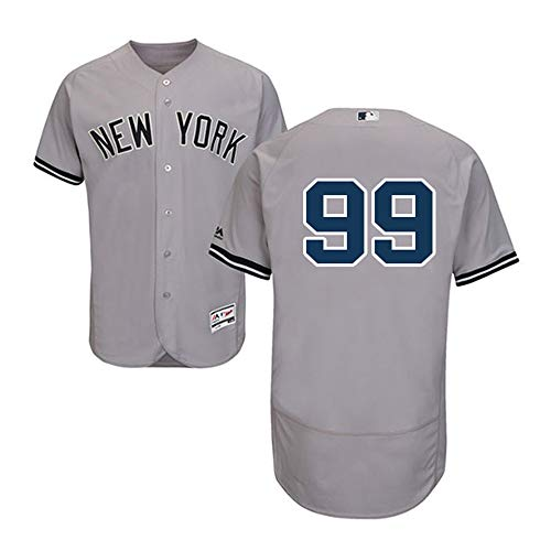 VFs Men's New York Yankees Aaron Judge #99 Flex Base Player Grey Home Jersey  (Gray, M)