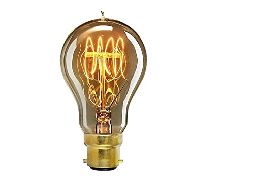 Julitech BulbB22 / E26 / E27 Bayonet Filament Light Bulb 40W Art Deco Retro Edison Light Bulb
