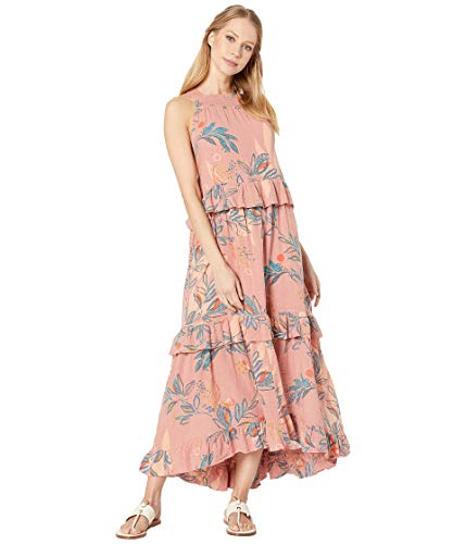 Free People Anita Printed Maxi Mauve MD (Women's 8-10)