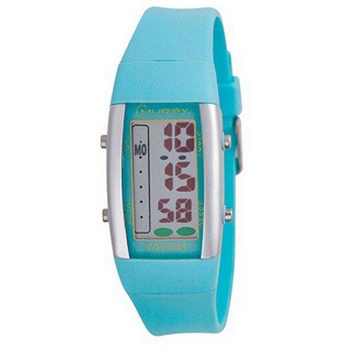 Montre Concept - Relojes digitales hombre Mingrui - Correa Plástico turquesa - Dial Redondo Fondo Gris: Amazon.es: Relojes