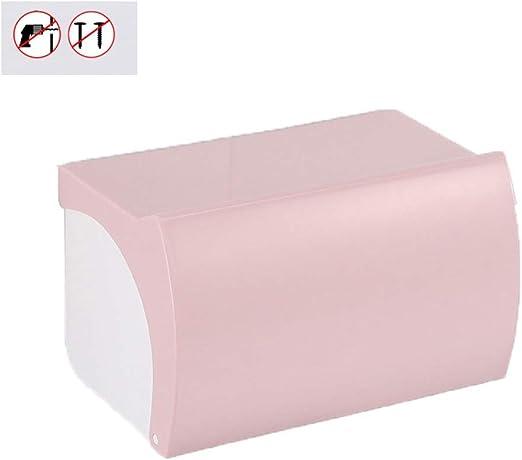 Caja De Pañuelos Cartón Caja de pañuelos de higiene Punching libre Bandeja de plástico Rollo Flip Caja de papel higiénico Portarrollos de papel higiénico impermeable Decoracion (Color : Pink) : Amazon.es: Hogar