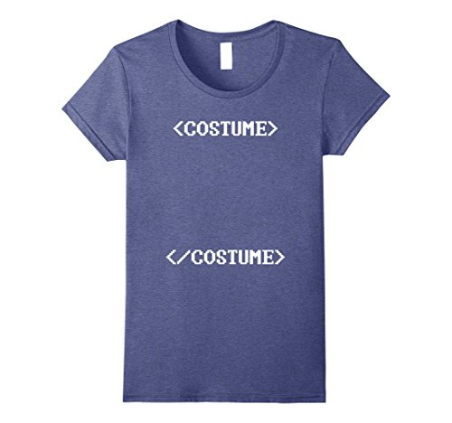 Womens Computer Code Nerdy Halloween Costume T-Shirt for Coders XL Heather - Halloween Female Costumes Nerdy