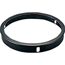 Progress Lighting P8799-31 Top Cover Lenses For P5675 Cylinder Adapts Up/Down Fixtures For Wet Location Use Heat and Shatter-Resistant Clear Tempered Lens with Black Trim, Black