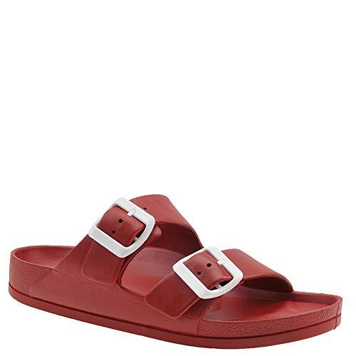 MIA Shoes Women's Jasmin Slide Sandal, Red, 9 Medium US