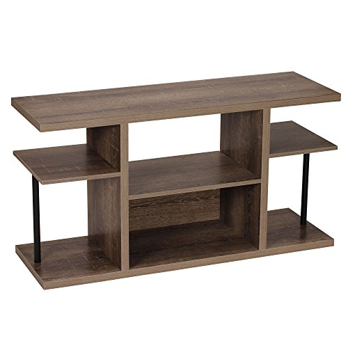 Household Essentials 8072-1 Ashwood Media Center | Entertainment TV Stand |6 Shelves for Storage