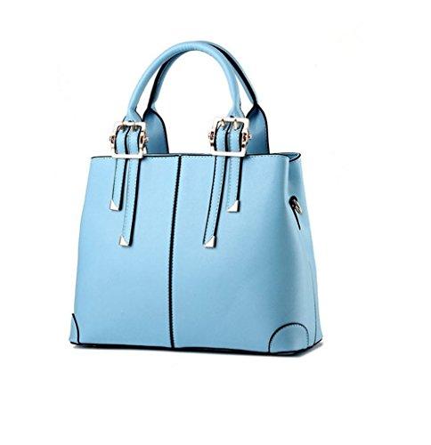 Azul Top Señoras las Verde Hombro de la Bolso Cuero la para PU de de Bolsos de Mujeres las Cielo Mango Manera 0EqqAwRx1