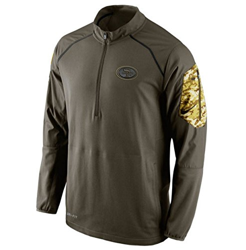 San Francisco 49Ers 2015 Nfl Salute To Service Nike Hybrid 1 4 Zip Mens Pullover Jacket  2Xl