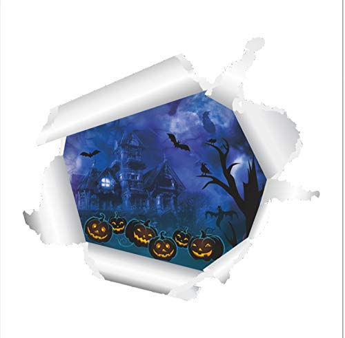Festival Halloween Soul Castle 3D Wall Sticker PVC for Home Decor Background Decorative Decals Poster Pumpkin Head Stickers -
