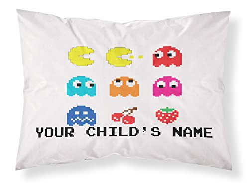 Customizable-Pac-Man-Arcade-Pillowcase-Personalized-With-Your-Childs-Name-Perfect-Gift-For-Boys-And-Girls-Of-All-Ages-Xbox-One-Playstation-4