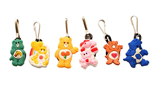 AVIRGO 6 pcs Zipper Pull / Zip pull Charms for Jacket Backpack Bag Pendant Colors Set # 22-2 by (Wish Bear Care Bear Costume)