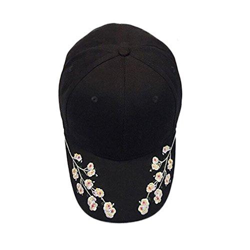 haoricu Baseball Hat, 2017 New Women Embroidered Baseball Cap Summer Snapback Caps Hip Hop Hats