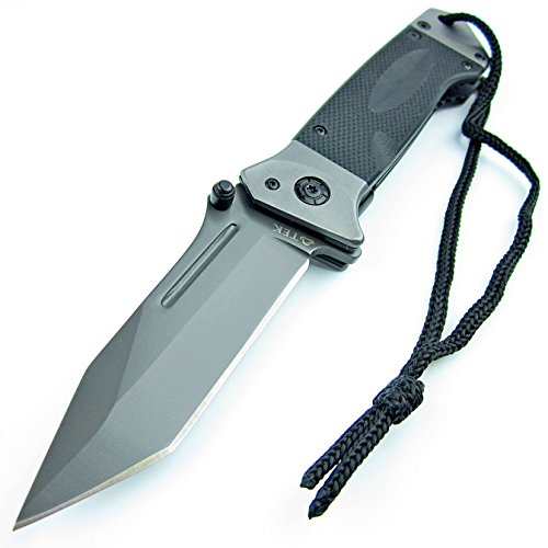 TEK-Spring-Assisted-Opening-HEAVY-DUTY-Folding-Pocket-Knife-LMF-Style-Pommel-with-lanyard-Lighting-Fast-Deployment-Razor-Sharp-Tanto-Blade-Brand-New-Only-From-Tactical-Edge-Knives