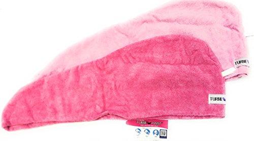 Dark Twist (Turbie Twist Microfiber Hair Towel (2 Pack) Light Pink - Dark Pink Frustration Free Packaging)
