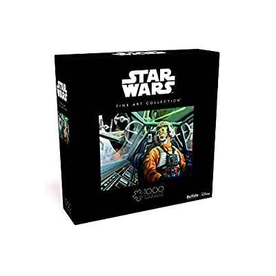 Star Wars - Fine Art Collection - Baptism by Fire - 1000 Piece Jigsaw Puzzle: Toys & Games