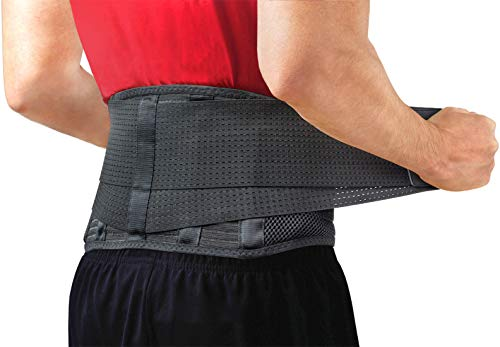 Back Support Belt by Sparthos – Relief for Back Pain, Herniated Disc, Sciatica, Scoliosis and more! – Breathable Mesh…