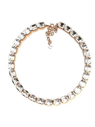 Octagon Jewels (12x10mm Swarovski Crystal Octagon Rhinestone Necklace)