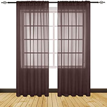 Amazon Com Holking Sheer Window Cutains For Bedroom Rod