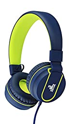 Artix Headphones with Microphone for Travel, Work, Kids, Teens, Running Sport with In-line Controller (Blue)
