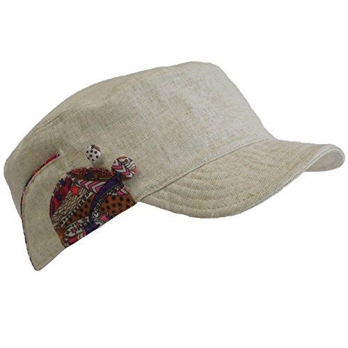 Turtle Fur Women's Lily, Lightweight Linen/Cotton Fitted Cadet Cap, (Turtle Lightweight Hat)
