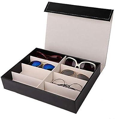 Alucy Caja de Gafas de Sol para Gafas, 8 Ranuras para Gafas de Sol ...