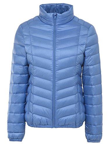 悪質な理容室回復山の奥 レディース ウルトライト キルティングジャケット 超軽量 立襟 インナーダウンジャケット