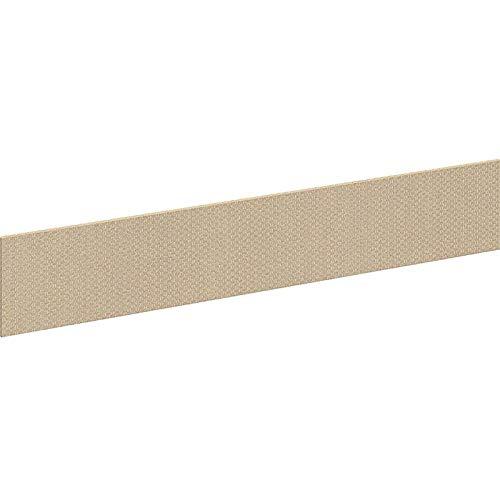 Bush Westfield Elite 48W Privacy Bridge/Return Tackboard; Lyric Sundew Fabric, Beige