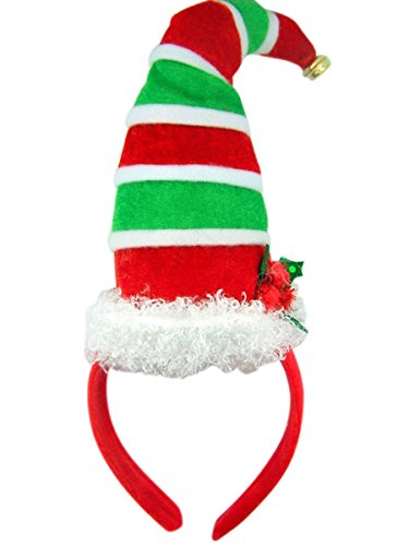Santa's Elfs Christmas Hat with Bell Holiday Party Headband -