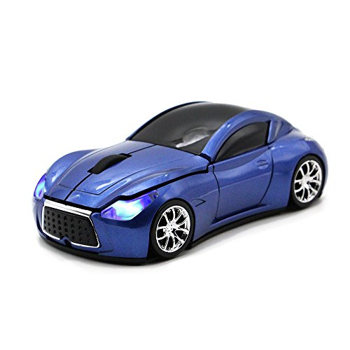 MGbeauty Sports Car Mouse Wireless Mouse Computer Mice Laptop Optical Gaming Mouse for PC MAC(Blue)