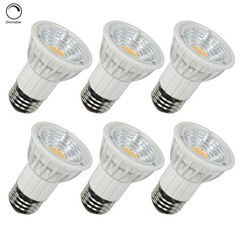 Aiwode PAR16 LED Spot Light Bulb,Dimmable,5.5W(50W Halogen Equivalent) Warm White 2700K,550LM RA95 90 Degree Beam Angle for Track Lighting,Recessed Light,Living Room, Dinning Room, Kitchen, 6 Pack ()