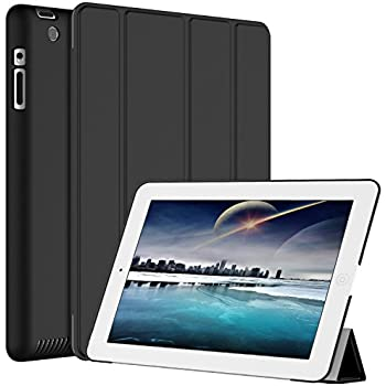 JETech iPad 2/3/4 Case with Back Protection for Apple iPad 4 3 2 with Auto Sleep/Wake (Black) - 0210