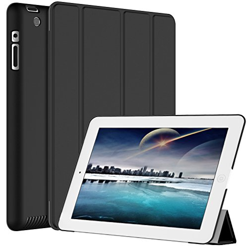 Smart Cover for Apple iPad 2/3/4 (Black) - 3