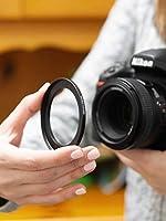 para Las Lentes de Todos los Fabricantes: Canon Sony Nikon Fujifilm Olympus Tamron Sigma Pentax Step Up Filteradapter 58mm Anillo Adaptador del Filtro Hecho de Aluminio 77mm