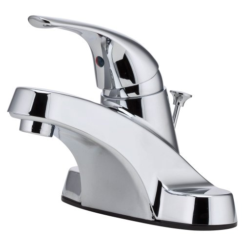 (Pfister G1428000 Pfirst Series Single Control 4 Inch Centerset Bathroom Faucet in Polished Chrome)