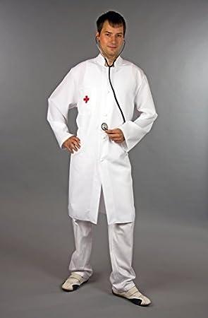 e6f3adf6d48 Kostüm Arzt Kittel Größe 50 52  Amazon.de  Spielzeug