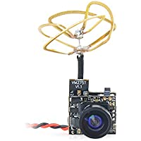 Crazepony FPV Tiny Whoop Camera 5.8G 40CH 25mW Transmitter with Circular Polarized Clover Leaf Antenna for Blade Inductrix etc