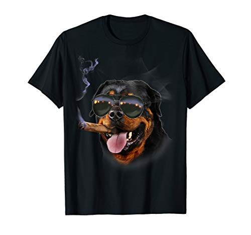 T-Shirt, Rottweiler with Cigar Wearing Aviator Sunglass, ()