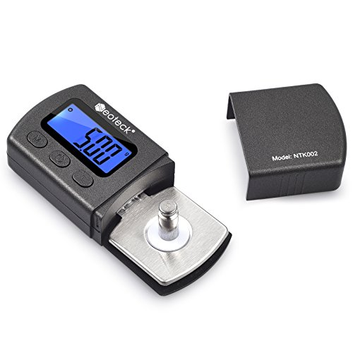 Neoteck Digital Turntable Stylus Force Scale Gauge 0.01g Blue LCD Backlight for Tonearm Phono Cartridge Dj Turntable Cartridge Package