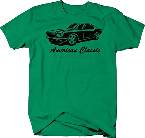 American Classic Ford Mustang GT Muscle Car Tshirt - Small (Kelly Gt Charger)
