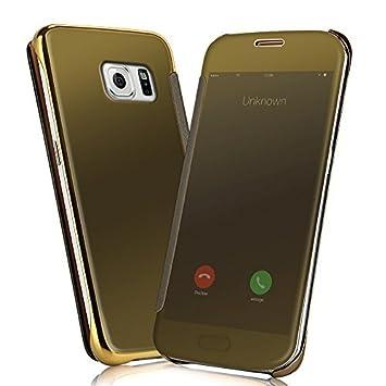 Samsung - Funda Carcasa para Galaxy s6 Edge Plus -, Transparente y Dorado