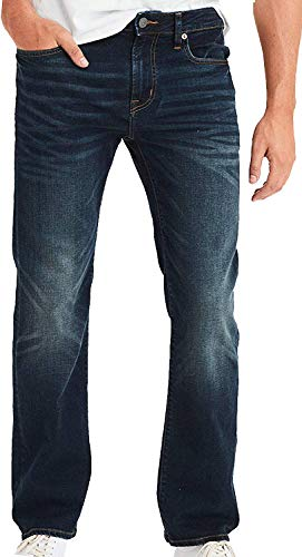 American Eagle Mens 4469521 Ne(X) t Level Original Bootcut Jean, Dark Rich Indigo (28x30)