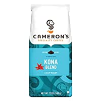 Camerons Coffee Roasted Ground Coffee Bag Kona Blend 12oz