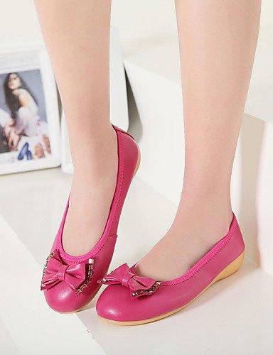 us5 mujer PDX rojo sintética piel de negro redonda punta Beige Casual de Flats eu35 cn34 uk3 talón plano black zapatos aqwxRqrA