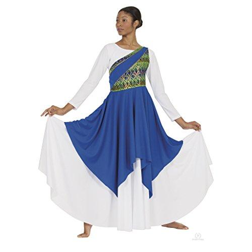 Eurotard 63567c Child Joyful Praise Asymmetrical Tunic (Royal, Large/Extra Large)