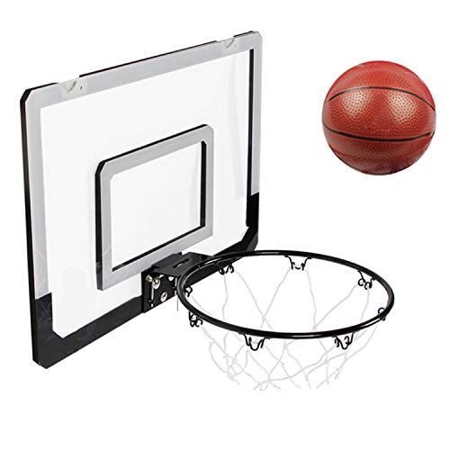 (Small wood Basketball Toy Set, Childrens Hanging Basketball Board, Mini Basketball Board, Indoor Outdoor Home Office Wall Basketball Stand Children Kids Basketball Game)
