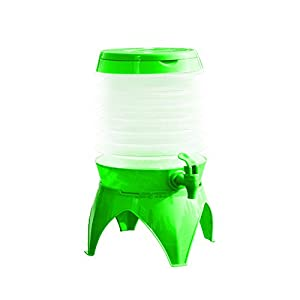 Collapsible Water Container - 5L Portable Folding Drink Dispenser,Green