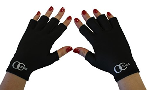 (OC Nails UV Shield Glove (BLACK NIGHT) Anti UV Glove for Gel Manicures with UV/LED Lamps)