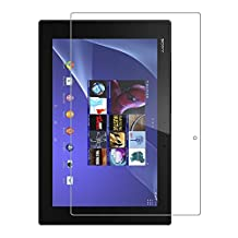 [2 Packs] Sony Xperia Z2 Tablet Screen Protector, 9H Hardness Ultra-thin Shatterproof Anti-Scratch HD Clear Tempered Glass Screen Protector for 10.1'' Sony Xperia Z2 Tablet