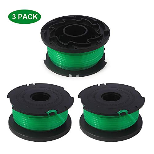 Thten String Trimmer Spool Replacement for Black and Decker SF-080 GH3000 LST540 Weed Eater 20ft 0.080